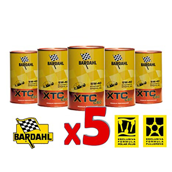Oil Engine BARDAHL XTC C60 5W40 Full Synt 5L XTC Bardahl  by https://www.track-frame.com