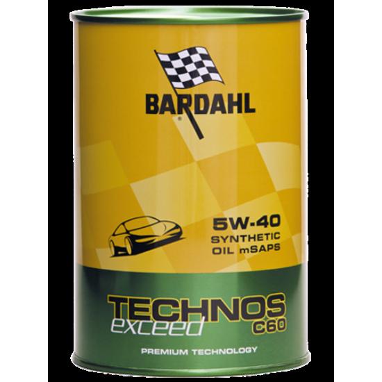 Olio auto BARDAHL TECHNOS C60 5W40 m-SAPS EXCEED 1 lt