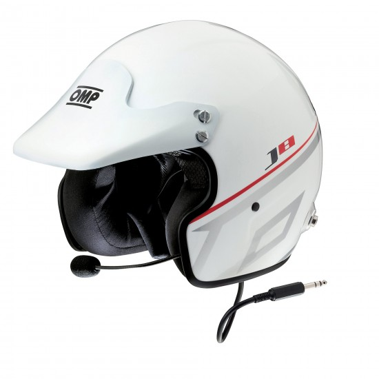 Helmet Omp J8 Intercom White