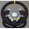 Steering wheel control plate
