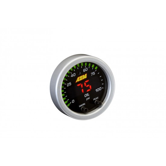 AEM PRESSURE OIL GAUGE - X-SERIES 0-100PSI / 0-7BAR  52mm 30-0301