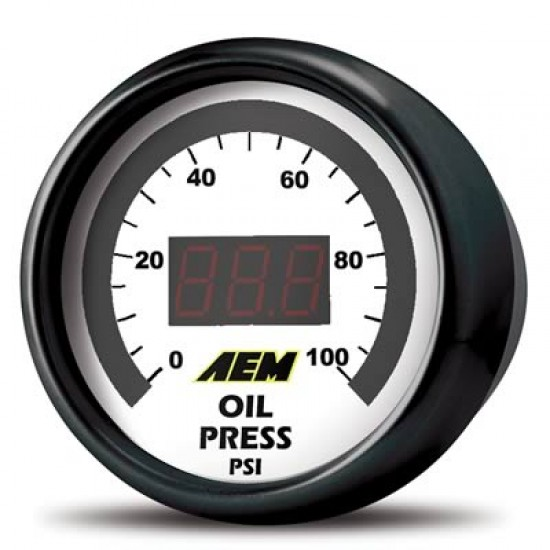 AEM OIL/FUEL PRESSURE GAUGE - DIGITAL 0-100PSI 30-4401